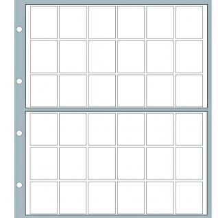 10 x SAFE 8564 Ergänzungsblätter Münzhüllen Designo Modern-Style 36 Fächer für Münzen bis 26 mm