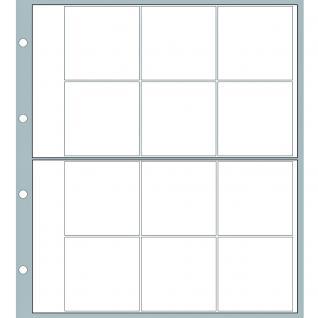 10 x SAFE 8562 Ergänzungsblätter Münzhüllen Designo Modern-Style 12 Fächer für Münzen bis 40 mm