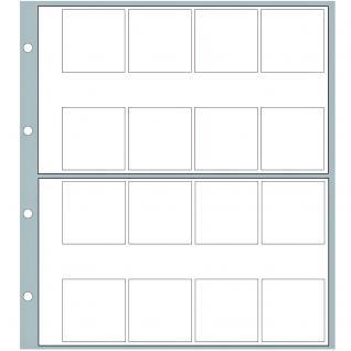10 x SAFE 8564 Ergänzungsblätter Münzhüllen Designo Modern-Style 36 Fächer für Münzen bis 25, 5 mm - Vorschau 3