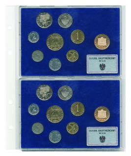 5 x SAFE 878 Coin Compact Ergänzungsblätter Spezialblätter Münzhüllen 1 Tasche 172 x 230 mm Für 2 x Österreich Euro KMS Kursmünzensätze im Acryl Etui