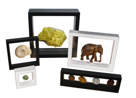 SAFE 4504 SCHWEBE RAHMEN FOTORAHMEN BILDERRAHMEN 3D Schwarz Außen 100x 100 mm / Innen 70 x 70x mm Für Münzen & Medaillen & Mineralien Fossilien & Muscheln & Schmuck - Vorschau 5