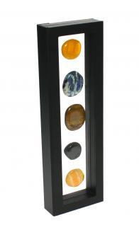 Safe 4508 Schwebe Rahmen Fotorahmen Bilderrahmen 3d Schwarz Außen 295 X 95 Mm / Innen 265 X 60 Mm Für Münzen & Medaillen & Mineralien & Muscheln & Steine & Fossilien - Vorschau 3