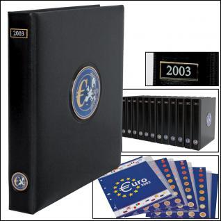 SAFE 7422 PREMIUM EURO ANNO JAHRGANGS MÜNZALBUM + Vordrucke Kursmünzensätze 2003
