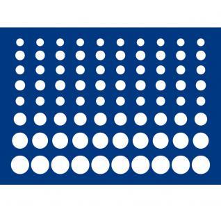 1 x SAFE 5861-1 Schwarze Schubladen mit blauen Einlagen 80 Münzen Euro KMS für die Kassetten 6590 & 6591 Ideal für 10 komplette Euro Kursmünzensätze von 1 Cent - 2 Euromünzen