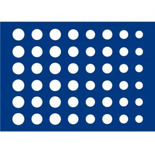 1 x SAFE 5862-1 Schwarze Schubladen mit blauen Einlagen 48 Fächer für Euro KMS für die Kassetten 6590 & 6591 Ideal für 6 komplette Euro Kursmünzensätze von 1, 2, 5, 10, 20, 50 Cent -1, 2 Euromünzen in Münzkapseln