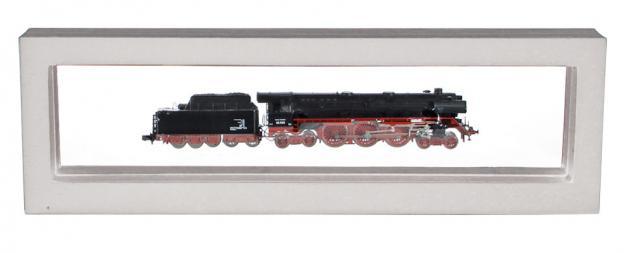 SAFE 4518 SCHWEBE RAHMEN FOTORAHMEN BILDERRAHMEN 3D Weiß Außen 295 x 95 mm / Innen 265 x 60 mm Für Minitrix Märklin Mini Eisenbahnen Loks & Modellbau Autos