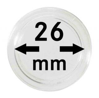 10 x SAFE 6726-L Münzkapseln Capsules 26 mm - Ideal für 2 Euro Gedenkmünzen - 1/2 Unze Maple Leaf Gold - 1/2 Unze Nugget Känguru Gold - 1/4 Unze Panda Silber