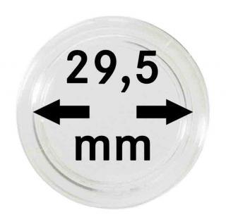 10 x SAFE 6729-5-L Münzkapseln Capsules 29, 5 mm - Ideal für 5 DM Gedenkmünzen 5 Euro Österreich - 5 Mark DDR - 1/2 Unze Libertad Gold