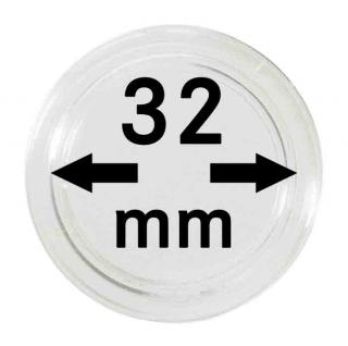 100 x SAFE 6732-XXL Münzkapseln Capsules 32 mm - Ideal für 10 Mark DDR - 5 CHF - 1 Unze China Panda Gold