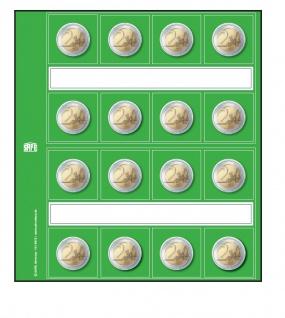 5 x SAFE 1864 Neutrale Vordruckblätter für 2 Euro Gedenkmünzen Münzen Für SAFE 8563 Designo Münzhüllen - Ergänzungsblättern - Münzblättern