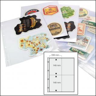 100 x SAFE 5473 Standard A4 rechteckige Bierdeckel Ergänzungsblätter Hüllen 4er Teilung 100 x 150 mm