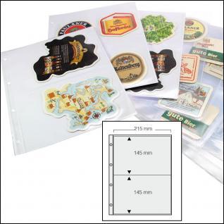 5 x SAFE 5478 Standard A4 große Bierdeckel Ergänzungsblätter Hüllen 2er Teilung 215 x 145 mm