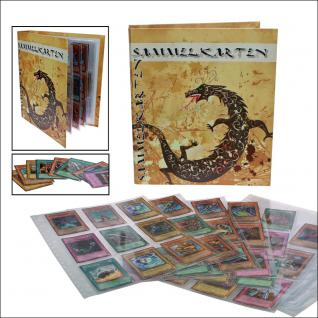 SAFE 7925 Sammelkarten Album Sammelalbum A4 + 20 Hüllen für 180 YuGiOh - Sportkarten - Tradingkarten - Panini Sticker