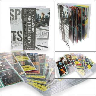 SAFE 7927 Autogrammkartenmalbum Sammelalbum Ringbinder mit 20 Hüllen für 160 Autographen Autogramme Karten