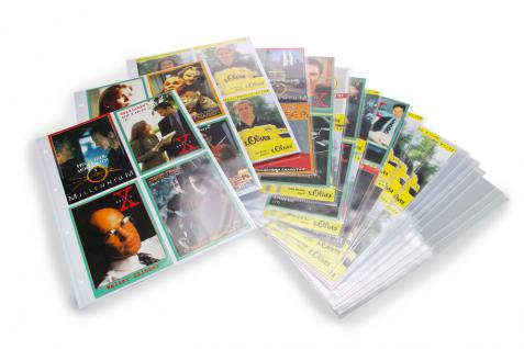 50 x SAFE 5475 Autogrammkartenhüllen Hüllen Ergänzungsblätter DIN A4 4er Teilung für bis zu 400 Autogramme & Autographen