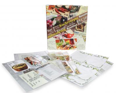 SAFE 7930 Kochrezepte Album Sammelalbum Ringbinder Rezepte mit 10 Rezeptkarton Blättern 15 Folienblättern für 150 Rezepte - Vorschau 2