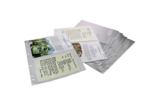 5 x SAFE 5480 Standard A4 Ergänzungsblätter Hüllen 2er A5 Teilung 215 x 145 mm Kochrezepte