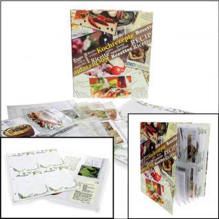 SAFE 7930 Kochrezepte Album Sammelalbum Ringbinder Rezepte mit 10 Rezeptkarton Blättern 15 Folienblättern für 150 Rezepte