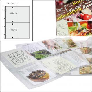 5 x SAFE 5474 Standard A4 Ergänzungsblätter Hüllen 4er Teilung A6 100 x 150 mm Kochrezepte