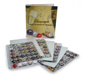 SAFE 7880 Champagneralbum Sammelalbum A4 mit 4 transparenten Blättern + Zwischenblättern für 168 Champagnerdeckel Kapseln - Vorschau 2