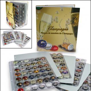 SAFE 7880 Champagneralbum Sammelalbum A4 mit 4 transparenten Blättern + Zwischenblättern für 168 Champagnerdeckel Kapseln