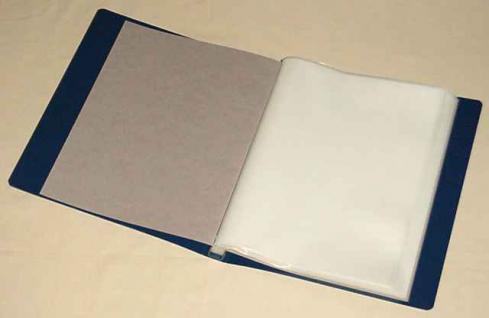 KOBRA B4 Blau Bogenalbum + 50 Hüllen für bis zu 100 Briefmarken Bogen Blocks bis 240 x 360 mm - Vorschau 1