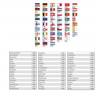 6 x LINDNER 630 Deutschland Flaggensticker Flaggen Signetten Sets zum aufkleben oder einstecken - Vorschau 2