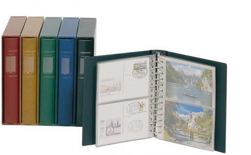 10 x LINDNER 802H Blanko-Blätter Weiß DIN A5 Silbergrauer Netzunterdruck + Schwarze Umrandunsglinie 13 er Lochung Format 174x215mm - Vorschau 3