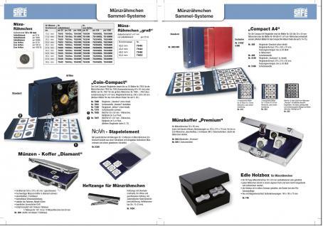 1000 SAFE 7820HM Münzrähmchen Standard 50x50 mm zum heften Weiß 20, 0 mm - Vorschau 2