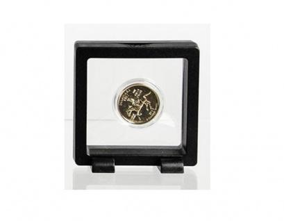 SAFE 4526 SCHWEBERAHMEN NEO FOTORAHMEN BILDERRAHMEN 3D Schwarz 70 x 70 mm / 55 x 55 mm Für Münzen