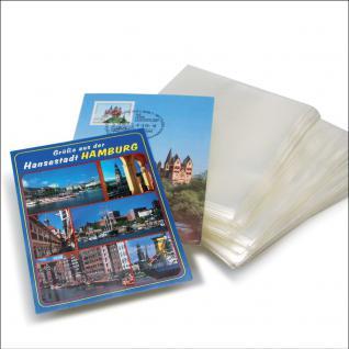 50 x SAFE 9262 Postkartenhüllen Schutzhüllen Hüllen offene Schmalseite 157 x 113 mm Ansichtskarten
