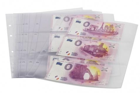 """SAFE 3100 """"0""""Euro Souvenir Banknotenalbum Sammelalbum + 5 Ergänzungsblätter 3 Taschen für 30 0 Euro Scheine Geldscheine Tourismus - Vorschau 2"""