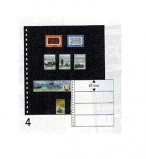 10 x LINDNER 04P Omnia Einsteckblätter schwarz 4 Streifen x 67 mm Streifenhöhe - Vorschau 1