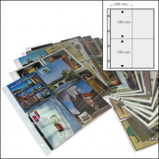 100 x SAFE 5471 XL Postkartenhüllen Ansichtskartenhüllen DIN A4 4er Teilung für bis zu 800 Karten Postkarten Ansichtskarten