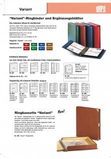 SAFE 520-6 Braun Universal Album Ringbinder + 10 Hüllen - 2 Taschen 185 x 128 mm Für Postkarten Ansichtskarten Banknoten Geldscheine Briefe FDC - Vorschau 5