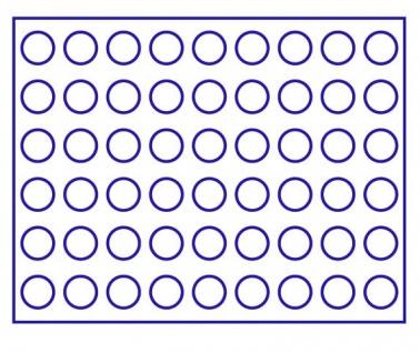 LINDNER 2494-10M CARUS-4 Echtholz Holz Münzkassetten 4 Tableaus blau 216 Fächer Münzen bis 25, 75 x 25, 75 mm 2 Euro Münzen - Vorschau 4