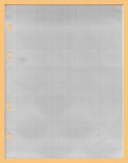 100 x KOBRA G17E Ergänzungsblätter Ersatztaschen A5 150 x 216 mm Für ETB 's Briefe Banknoten