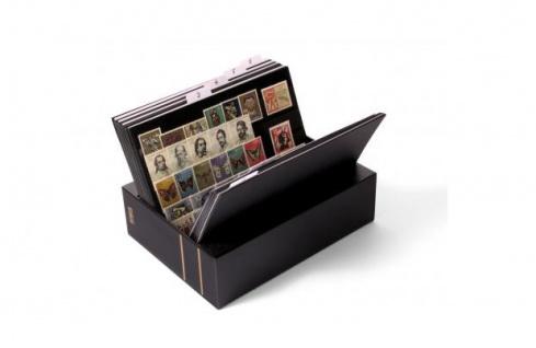 KOBRA KS Patent - Kassette aus schwarzem Kunststoff leer Für Einsteckkarten Steckkarten DIN A6 C6 A5