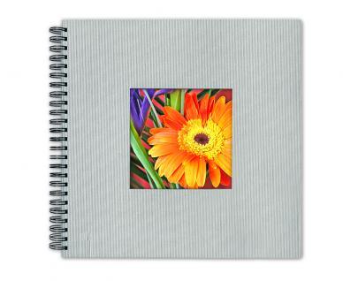 SAFE 5803-1 Design Fotoalbum Classic Silber 33 x 33 cm - 40 Seiten + Austauschbares Coverbild