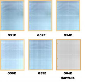 100 x KOBRA G56E Ergänzungsblätter DIN A4 6 Taschen 110x98mm Für kl runde & quadratische Bierdeckel - Vorschau 2