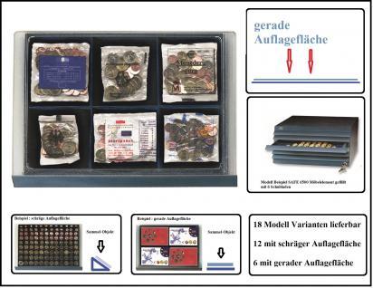 SAFE 6562 Schubladen für SAFE 6500 Möbelelement - mit blauer Einlage 6 Fächer 115x108 mm Für 6x Starter - Kits der Euro Länder
