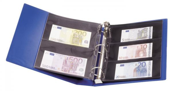 Lindner 1702 UNIPLATE Ringbinder Album Standard Blau mit 3 Ring - Mechanik + Schutzkassette (leer) zum selbstbefüllen - Vorschau 3