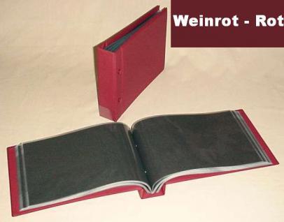 KOBRA G7 Weinrot Rot Universal Briefealbum Sammelalbum DIN A5 240x170 mm Für 80 gr. Fotos - gr. Bilder - gr. Briefe - Banknoten - Geldscheine - Vorschau 1