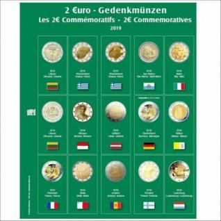 SAFE 7341-24 Premium Münzblätter 7393 mit Vordruckblättern 2 Euro Münzen Gedenkmünzen 2019
