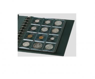 1 x SAFE 770 COIN N Ergänzungsblätter Münzblätter + 12 schwarze Patent Münzrähmchen für Münzen von 14 - 47 mm