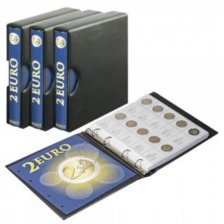 LINDNER S1118-SET 3x Karrat 2 Euro Münzalbum Vordruckalbum + 23 Blätter 1118-1 - 1118-23 2004-2018