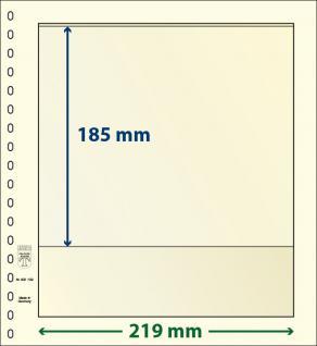 10 x LINDNER 802109P T-Blanko-Blätter Blankoblatt 18-Ring Lochung - 1 Tasche 185 x 219 mm