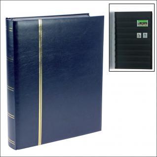 SAFE 155-4 Briefmarken Einsteckbücher Einsteckbuch Einsteckalbum Einsteckalben Album Blau wattiert 64 schwarze Seiten