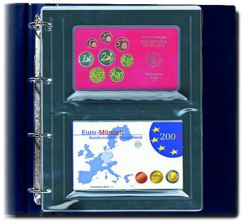 5 SAFE 5413 Compact A4 Münzhüllen Ergänzungsblätter Hüllen Für 2x offizille Euro KMS Kursmünzensätze Sets PP Epalux