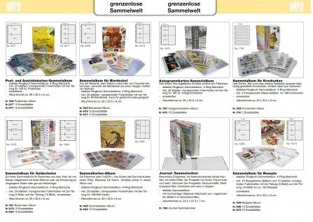 50 x SAFE 5478 Standard A4 große Bierdeckel Ergänzungsblätter Hüllen 2er Teilung 215 x 145 mm - Vorschau 5